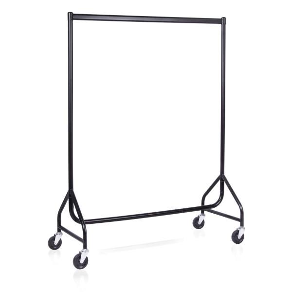 Rollständer schwarz, Länge 122 cm, H 155 cm
