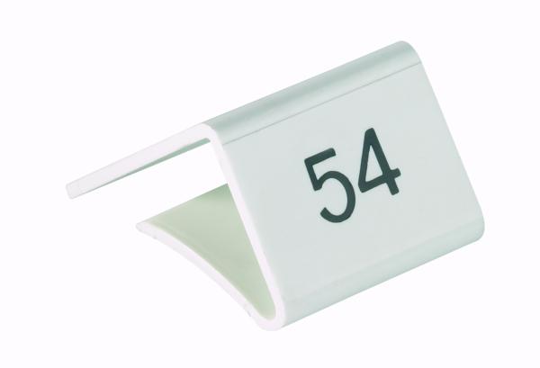 Fachbodenauszeichnung Stärke 11-20mm, weiß mit Aufdruck