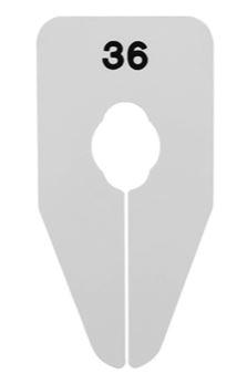 Größentrenner nummeriert für Oval und Rundrohre weiss