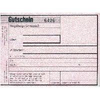 Gutscheinblock, A6 , 25 Blatt