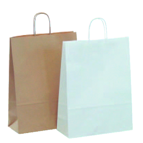 Papiertragetasche braun oder weiss