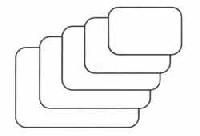 Etiketten,weiß mit runden Ecken, 3 x 4,8cm 50St