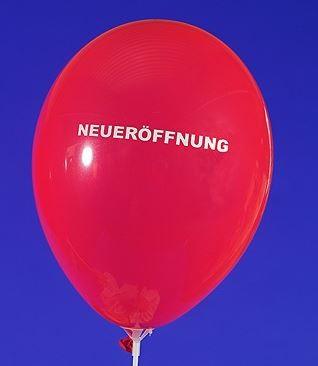 """Luftballon Aufdruck """"Neueröffnung"""" rot"""