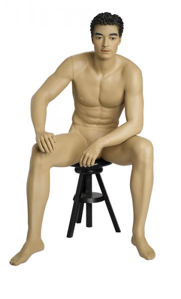 Herrenfigur Bruce, skulpt.Haar, teint