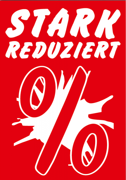 """A1 Poster """"Stark Reduziert %"""" für Plakat-rahmen -Ständer"""