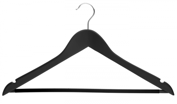 Black/White 44 cm Lotusholz Formbügel gewinkelt mit Rockeinkerbung und Steg
