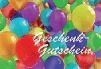 """Geschenkgutschein """"Luftballons"""" 10St incl Umschläge"""