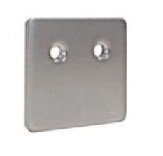 Fresh-Gegenplatte für Wandbuchse 45x45 mm, matt chrom