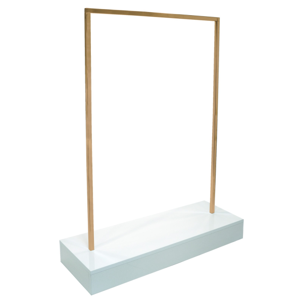 QuadOro Konfektionsständer mit Holzsockel L 119 cm