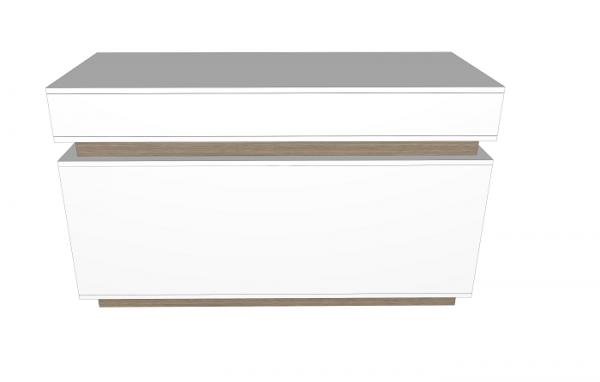 Cubox Verkaufstheke, B 150 cm, T 60 cm, H 90 cm