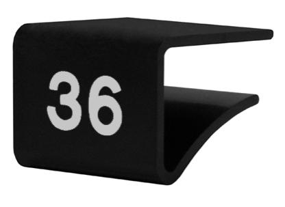 Fachbodenauszeichnung Stärke 10-20 mm, schwarz mit Aufdruck