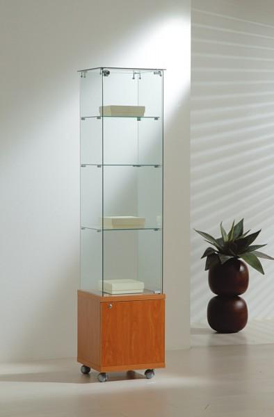 Standvitrine m. Unterschrank B 40 cm
