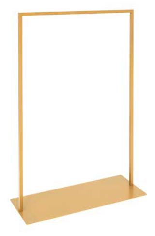 QuadOro Konfektionsständer mit Fussplatte L 101 cm