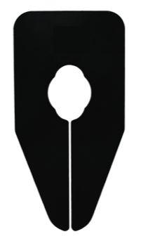 Größentrenner neutral für Oval und Rundrohre schwarz