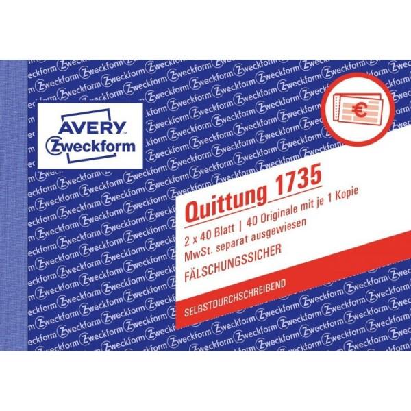 Zweckform-Formular Quittungsblock A6 2x40 Blatt