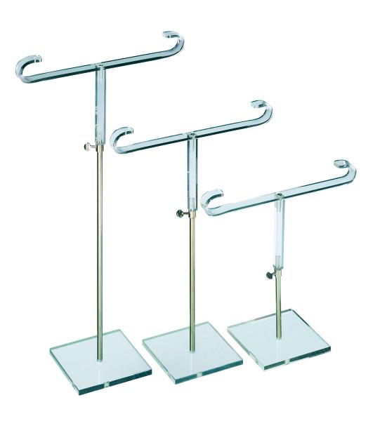 T-Ständer,Acryl,Bügelbreite 22 cm,höhenverstellbar