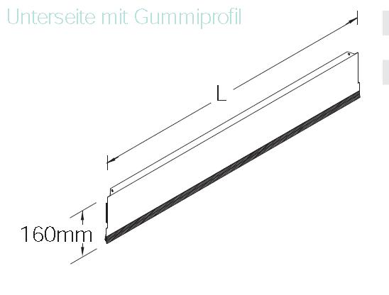 Sockelblende H 16 cm