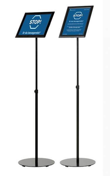 Infoständer schwarz, höhenverstellbar DIN Formate