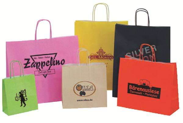 Papiertragetasche farbig mit Ihrem Logo!