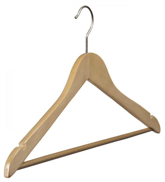 44 cm Lotusholz Formbügel gewinkelt mit Rockeinkerbung und Steg