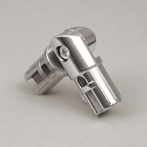 Gelenkinnenverbinder verstellbar 90-180° Ø25mm chrom