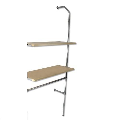 Anbau Wand-Rohrregal mit 1 Konfektionsstange und 2 Fachböden