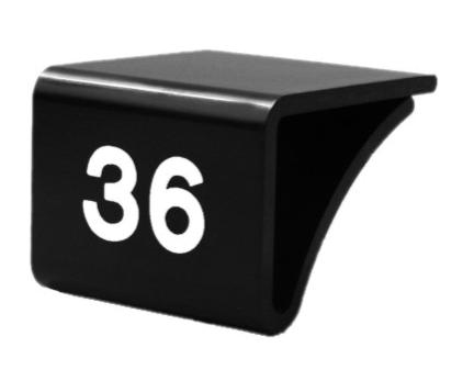 Fachbodenauszeichnung Stärke 3-10mm, schwarz mit Aufdruck