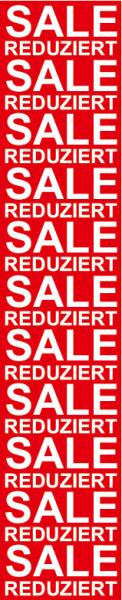 "Plakat/Banner ""SALE Reduziert"" 150x30 cm"