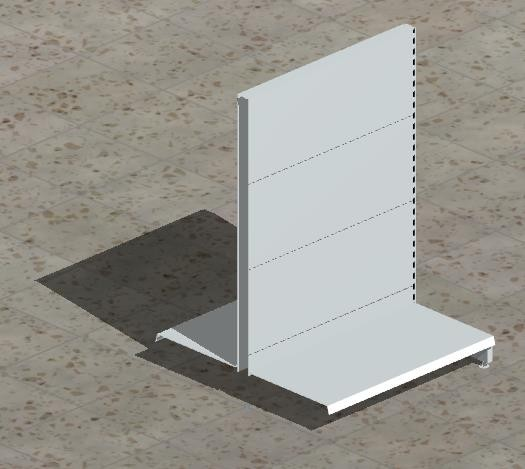 Anbau-Gondelregal mit glatten Rückwänden H 140 cm-Copy