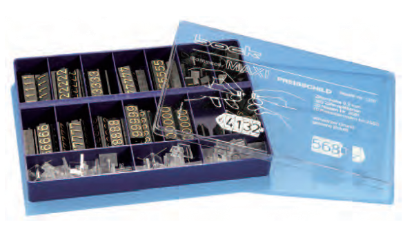 Preisschildkassette Maxi 9,2 mm 360 Teile