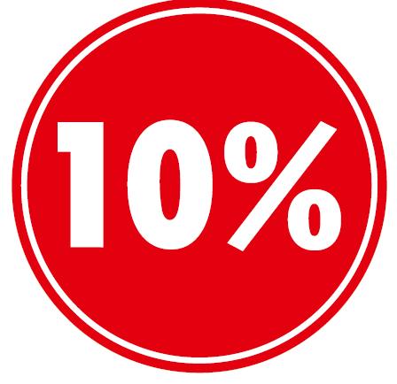 """Ankleber Rabatt-Kreis mit div """"....%"""",rot"""