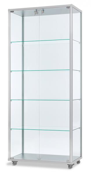 Alu-Profilvitrine 78,2x41,7x183 cm, optional LED Beleuchtung