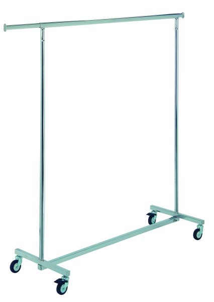 Rollständer chrom 140cm lang Höhe 165 cm, nicht höhenverstellbar