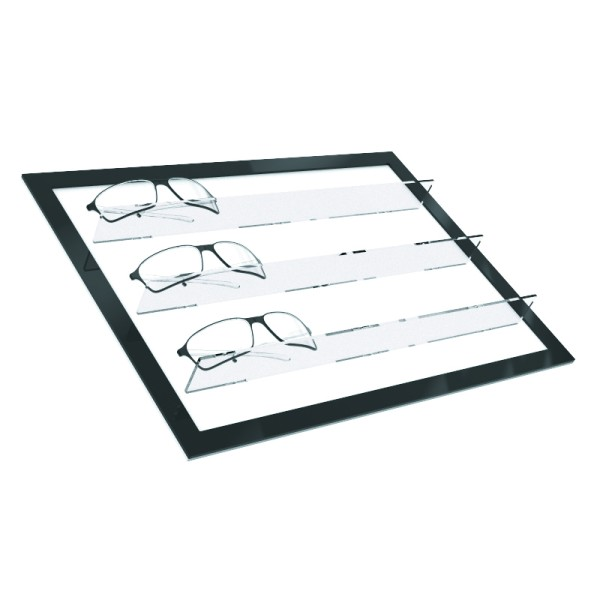 Schrägablage mit Stegen für S LED
