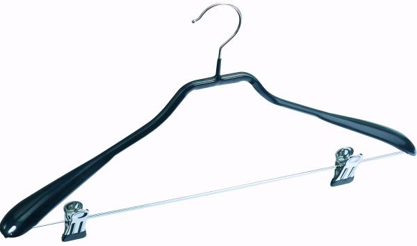 Schulterformbügel mit Klammersteg, schwarz