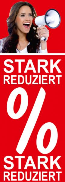 "Plakat/Banner ""Stark Reduziert Foto"" 119x42 cm"