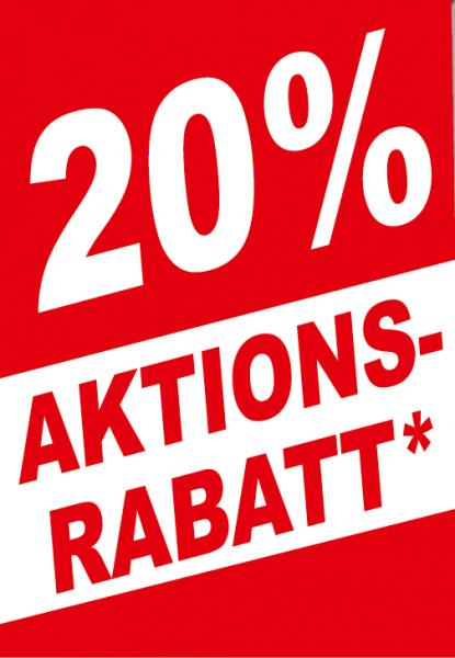 """A1 Poster """"....% Aktionsrabatt"""" für Plakat-rahmen -Ständer"""