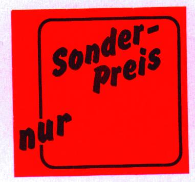 "Etikettenrolle ""Sonderpreis nur"" rot"