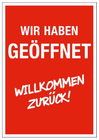 Plakat -WILLKOMMEN ZURÜCK- DIN A1