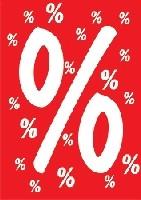 Plakat , vollflächig rot -%- DIN A4, 10 St