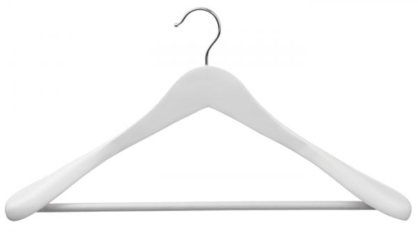 Black/White 44,5 cm Lotusholz Anzugbügel mit Steg und Schulterverbreiterung