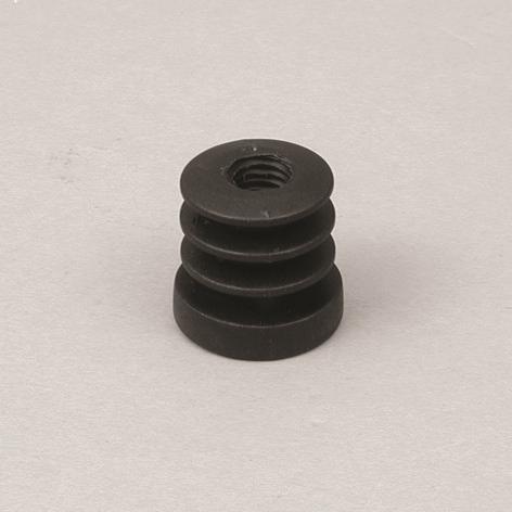 Gewindeeinsatz M10 Plastik Ø25mm, schwarz
