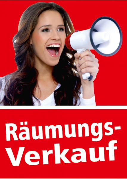 """A1 Poster """"Räumungsverkauf Foto"""" für Plakat-rahmen -Ständer"""