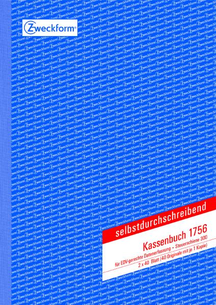 Zweckform-Formular Kassenbuch 1756 2x40Blatt A4