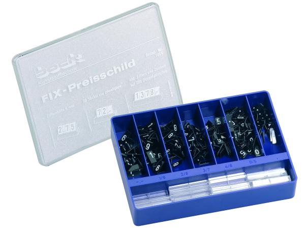 Preisschildkassette Ziffernhöhe 6mm