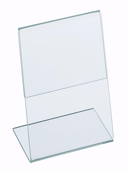 L-Aufsteller aus Acrylglas Hochformat