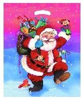 Weihnachtstragetasche Father Christmas 37x44 cm