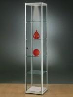 Standvitrine H 200, B 50, T 50 cm