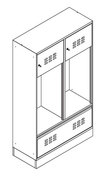 SpindStyle mit Tür und Schublade